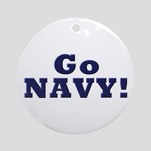 Go Navy Ornament (Round)